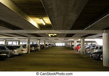 Underground parking lot.