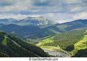 carpathian, berge, in, sommer
