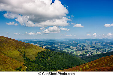 Carpathian Mountain Range in late summer - Carpathian...