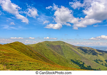 Carpathian Mountain Range in late summer - Carpathian...