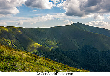 Carpathian Mountain Range in summer - Carpathian Mountains...