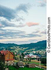 Carpathian mountain ridge