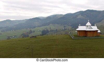 Carpathian Mountains Aerial in Autumn