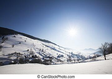 Carpathian mountains in winter