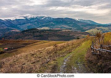 Carpathian rural area in november - Rural area in november....