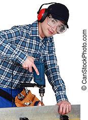 carpenter., צעיר