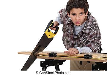 carpenter., 男の子, わずかしか