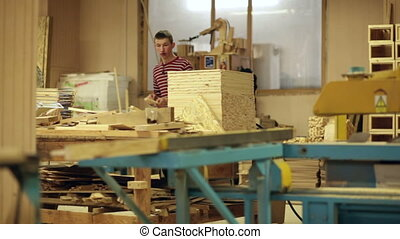 carpenter at work wood workshop