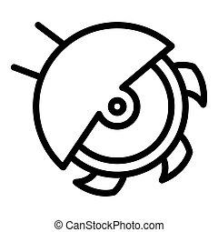 Carpenter circular saw icon, outline style