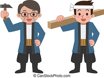 Carpenter - Vector illustration.