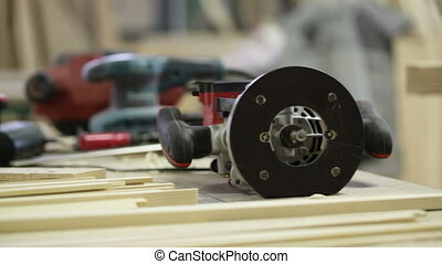 carpenter electric tools workshop wood