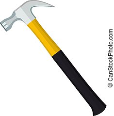Carpenter hammer tool icon.