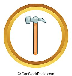 Carpenter hammer vector icon