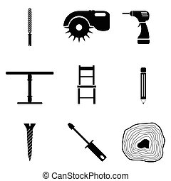 carpenter icon set