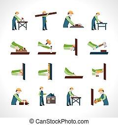 Carpenter Icons Set