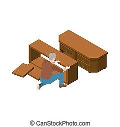 Carpenter Isometric Icon