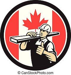 carpenter-lumber-walking thumbs up CIRC-CAN-FLAG-ICON