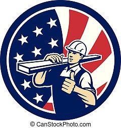 carpenter-lumber-walking thumbs up CIRC-USA-FLAG-ICON