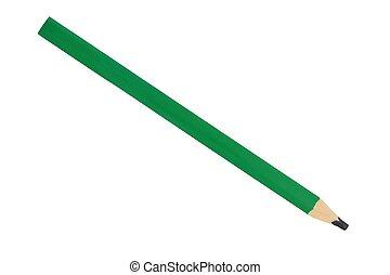 Carpenter pencil on white