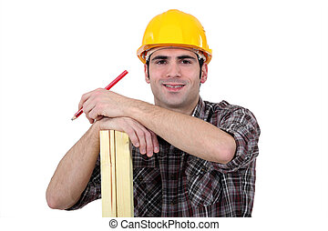 carpenter posing