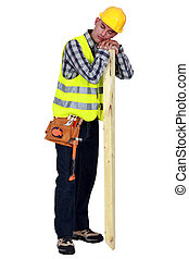 Carpenter sleeping on the job