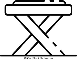 Carpenter table icon, outline style