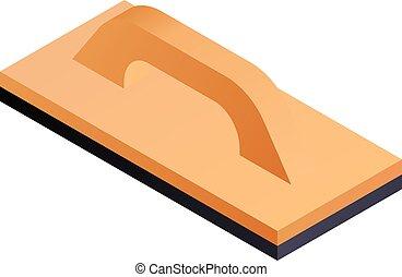 Carpenter tool icon, isometric style