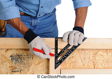 Carpenter with Framing Square