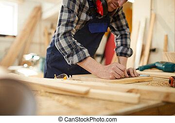 Carpenter Working Closeup