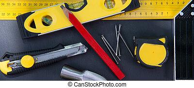 carpenter's, attrezzi, tavola