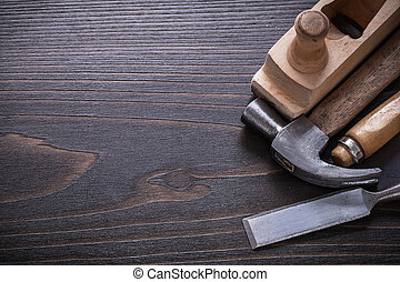 carpenter?s, co, espaço, madeira, vindima, imagem, tábua, cópia, ferramentas