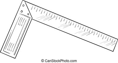 Illustration of a metal measuring tool