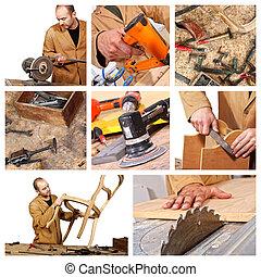 carpentiere, lavoro, dettaglio