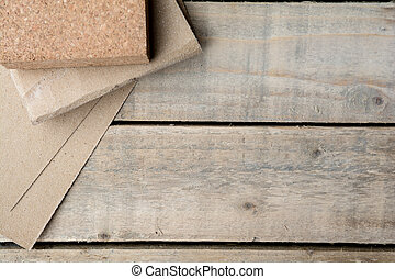 Carpentry background of wooden boards in a workshop