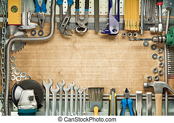 Home improvement - Carpentry, construction tools. Home...