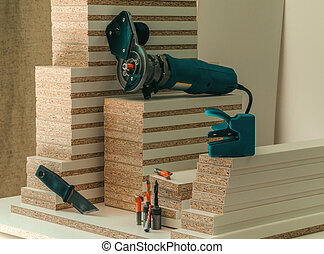 Carpentry hand router - Employee workpieces for furniture...