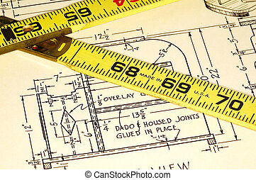 Carpentry Plans and a Ruler