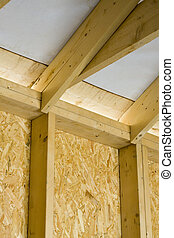 carpentry - part of a wood house construction