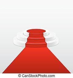 carpet., αγαθός αριστερός , βήμα αρχιμουσικού , στρογγυλός , αναβαθμός