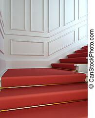 carpet., κλίμαξ , κλασικός , κόκκινο
