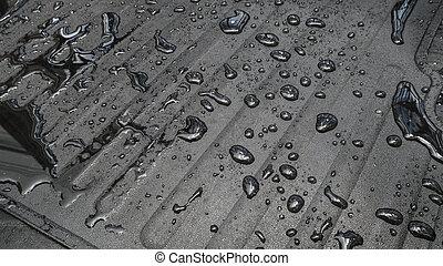 Carpet car with water drop.