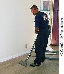 carpet cleaning 2 - carpet cleaning tech getting equipment...