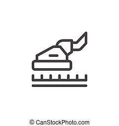 Carpet cleaning line icon