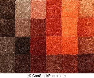 Carpet colors 06 - Color palette picker of carpet textile...