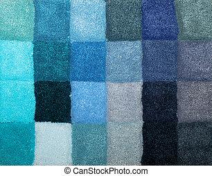 Carpet colors 09 - Color palette picker of carpet textile...