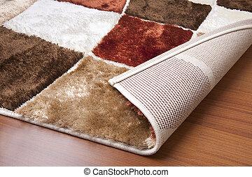 Corpet detail. Living room relaxing carpet.
