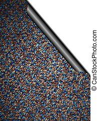 carpet curl - Illustration of carpet with page curl showing...
