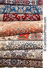 Carpet detail - Color textured carpet surface detail...