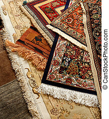 Carpet - Oriental ornate carpet. Persian hand made