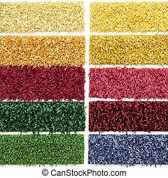 Carpet picker - Palette of carpet material patterns for...